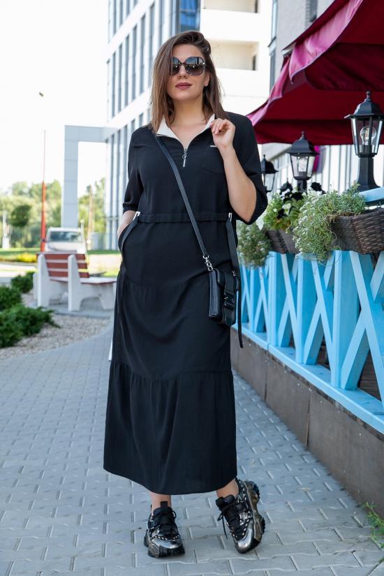 М 3683 черное платье р.52-56 (2)